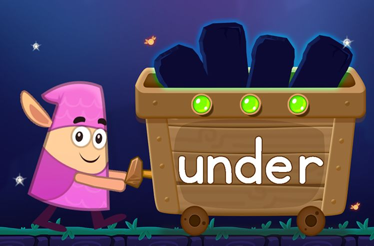 Learn the Sight Word: under