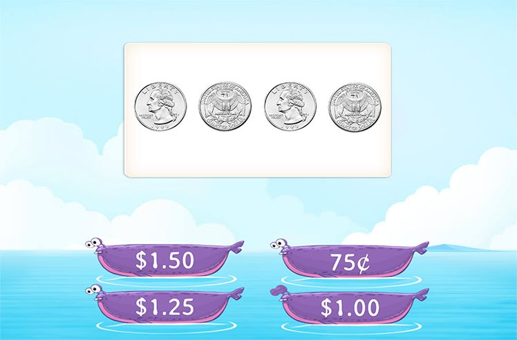 Find the Total Amount of Money using Similar Coins