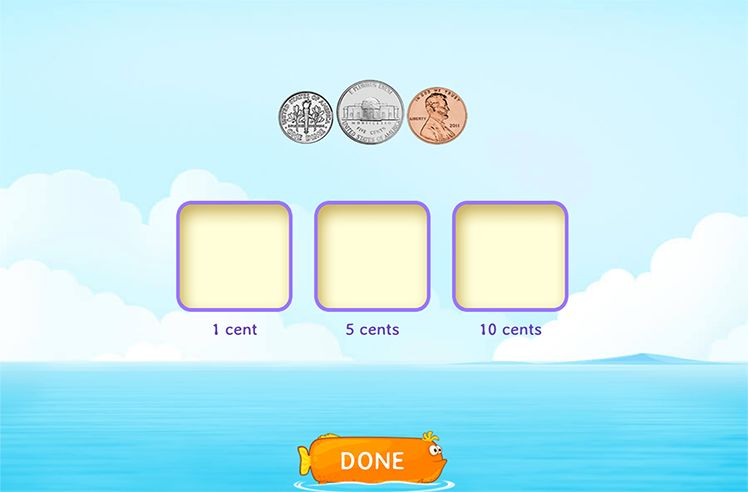 Match Coins to their Values