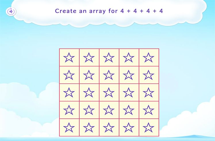 Model Repeated Addition using Arrays