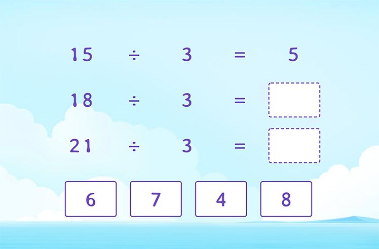 Divide by 3 to Complete the Division Patterns