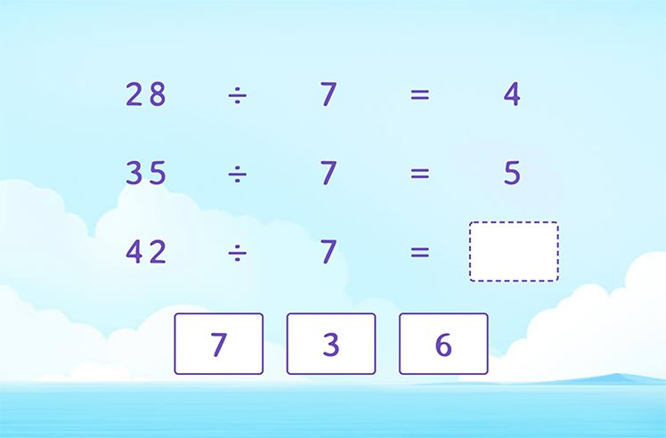 Divide by 7 to Complete the Division Patterns
