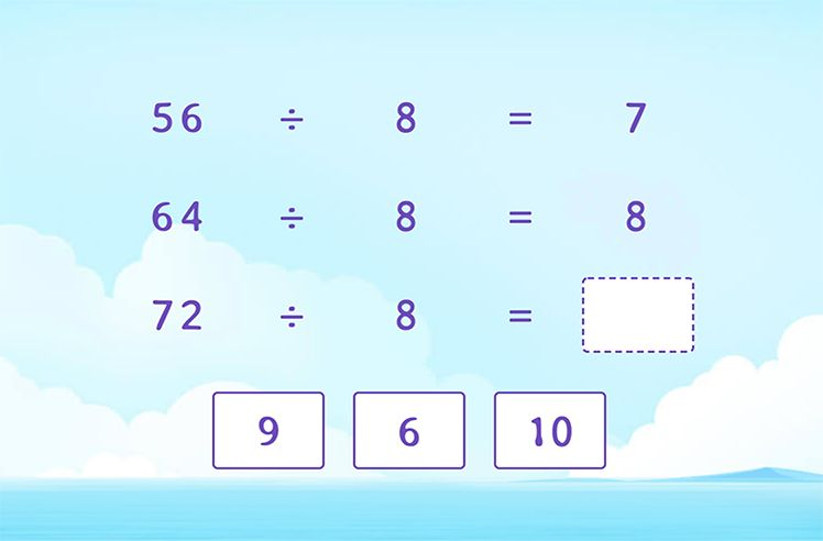 Divide by 8 to Complete the Division Patterns