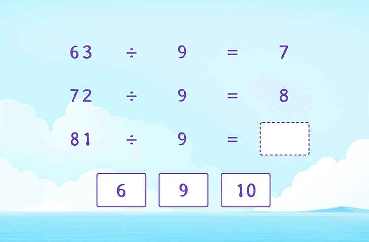 Divide by 9 to Complete the Division Patterns
