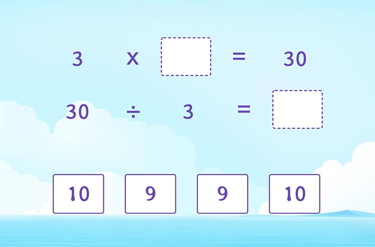 Divide by 3 using Multiplication Facts of 3