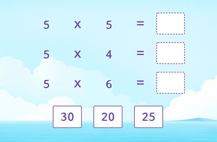 Multiply and Match (Facts of 5)