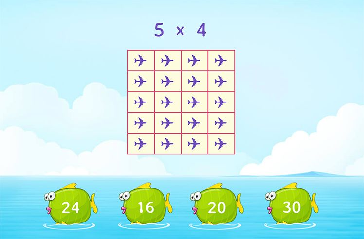 Multiplication by 5 Using Array Model