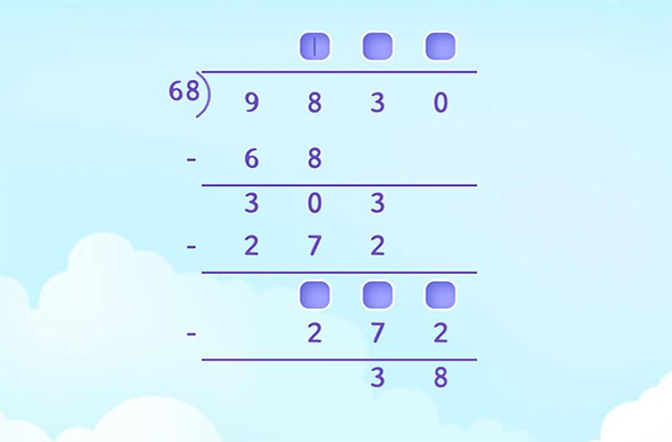 Complete the Division with Remainder