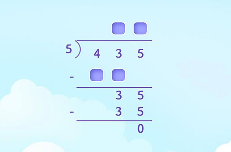 Use Long Division Method to Divide by Dividend Between 2 to 5