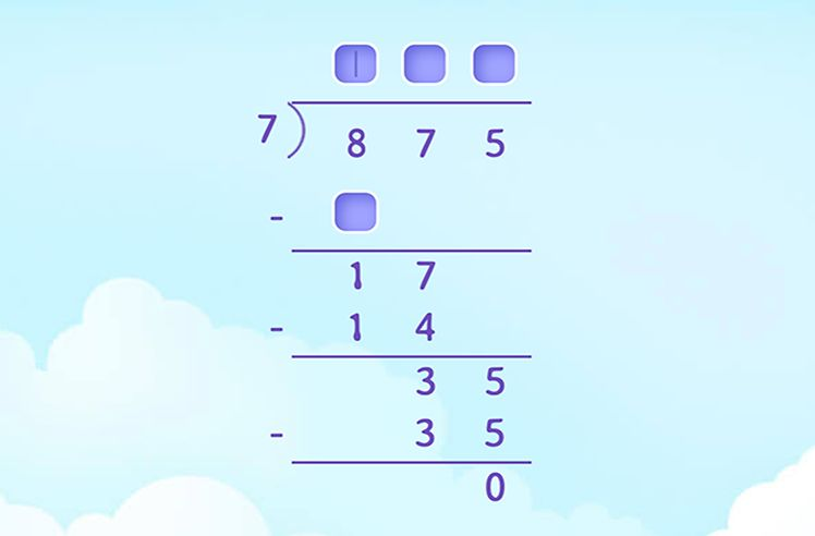 Fill in the Missing Numbers in the Solution