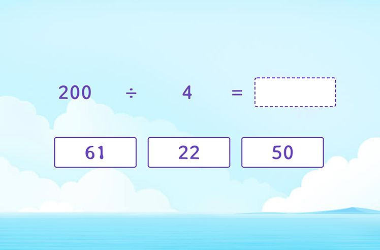 Divide Multiples of 10 by 1-Digit Numbers