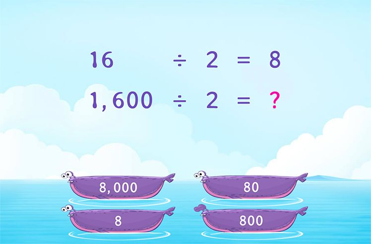 Identify the Patterns of Zeros and Divide