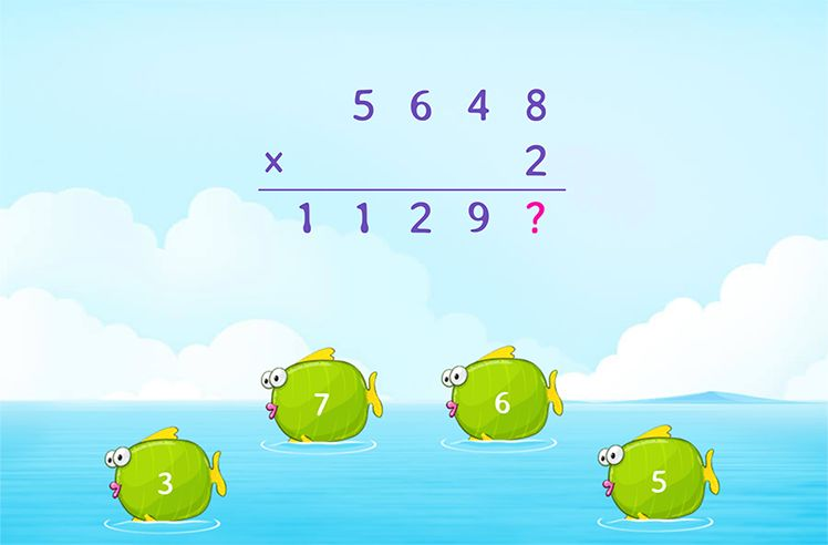 Multiply 4-Digit Number by 1-Digit Number and Find the Missing Number