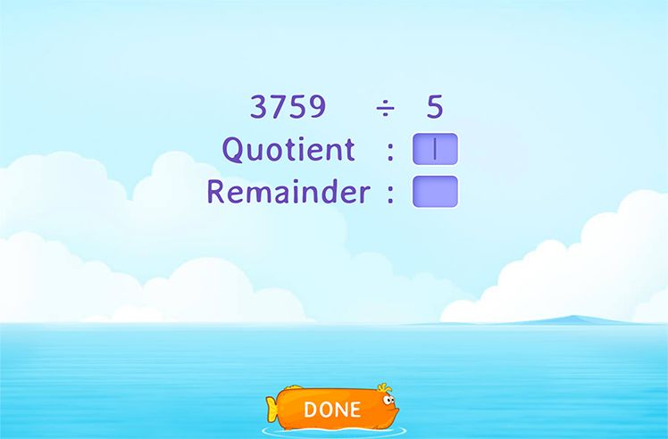 Fill in the Correct Quotient and Remainder After Dividing 2-Digit Number by 1-Digit Number