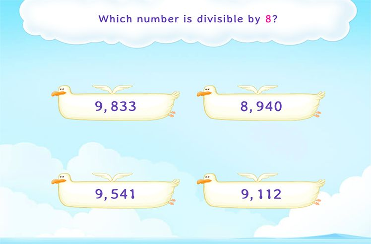 Choose the 4-Digit Number Divisible