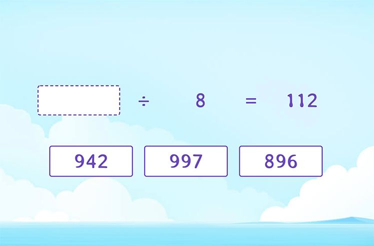 Complete the Division Equation by FIlling the Quotient or Divisor