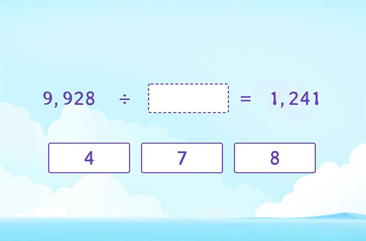Complete the Division Equation