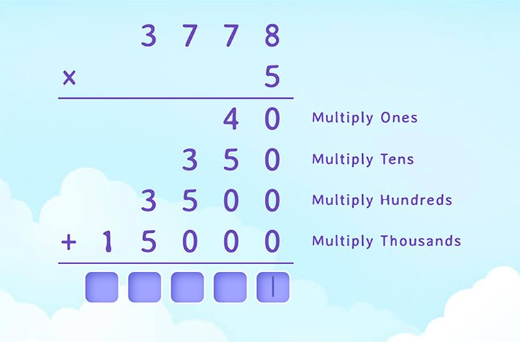 Multiply the 4- and 1-Digit Number