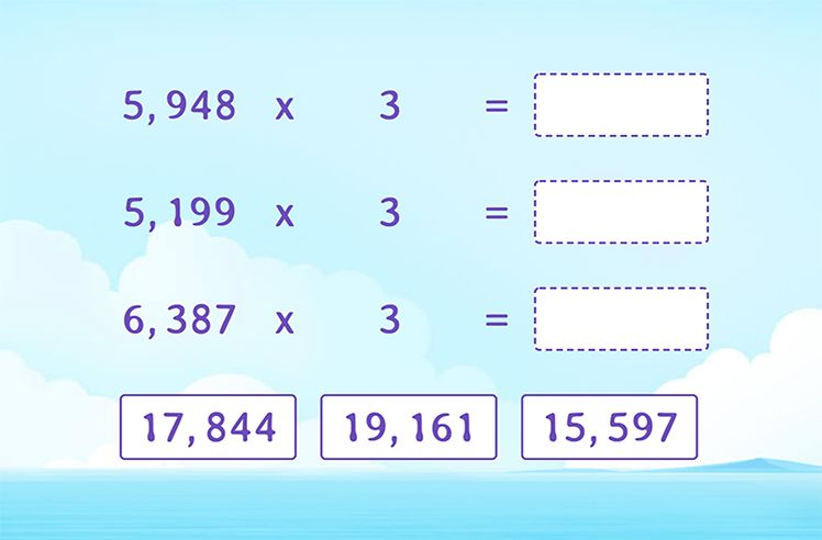 Choose the Correct Product for the Multiplication Expressions