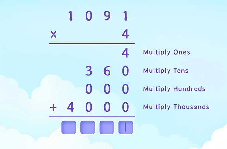 Solve to Complete the Standard Multiplication