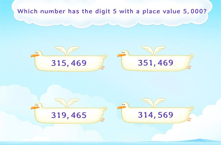 Identify the Number with the Given DIgit at the Place Value