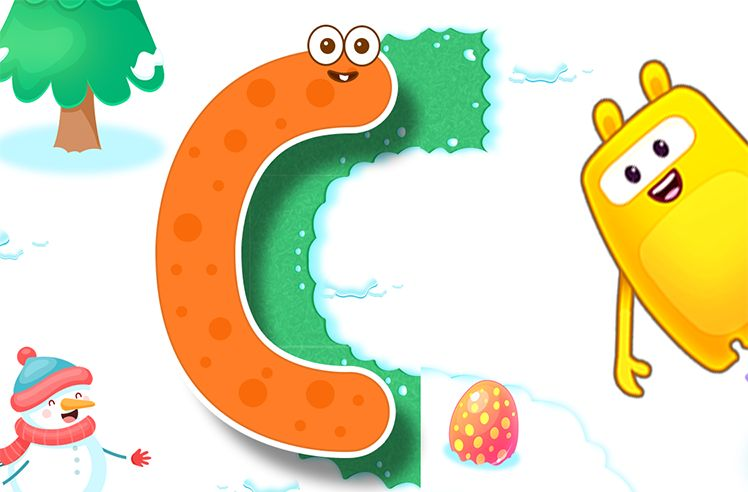 Tracing Big Letters With Curvy Lines - C, O & S