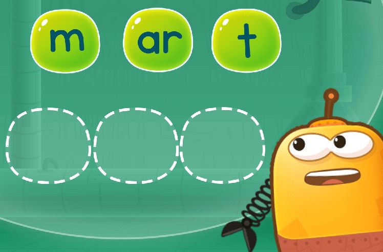 Rearrange Sounds to Make Words: part and shark