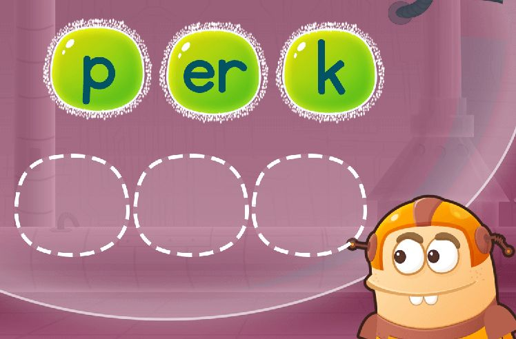 Sequence the Letters to Make Words: clerk and herd