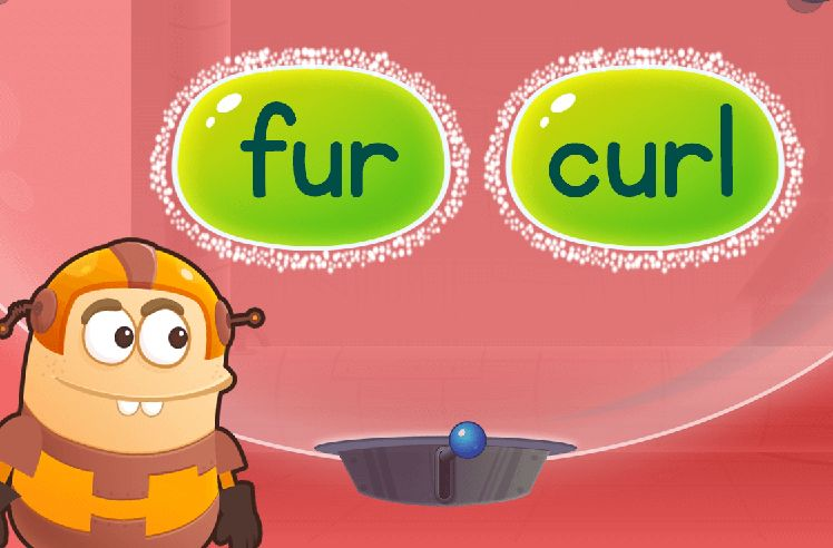Find Words Using Blending: purl and hurt