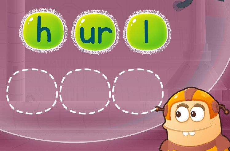 Sequence the Letters to Make Words: turn and curb