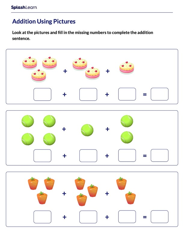 Addition Sentences Using Pictures