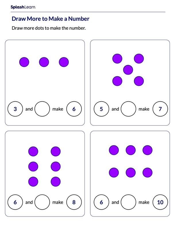Draw More Counters to Make a Number