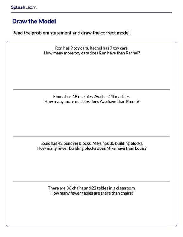 Represent the Given Problem Using Bar Model