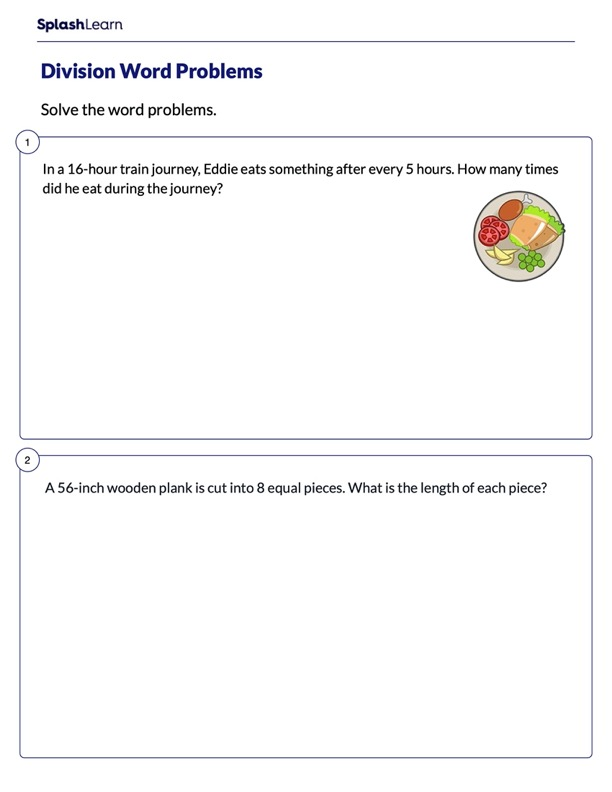 Solve Division Word Problems