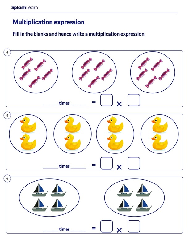Multiplication Expression for Equal Groups