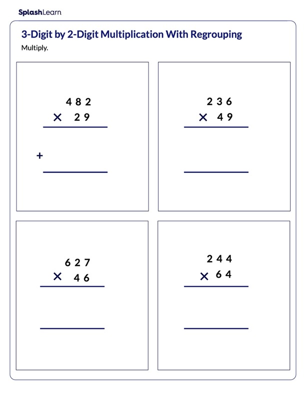 Multiply 3-Digit by 2-Digit with Regrouping