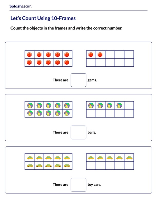 Count upto using 10-frames
