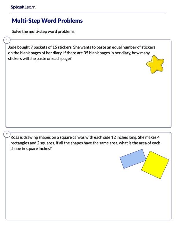 Solve Multi-Step Word Problems