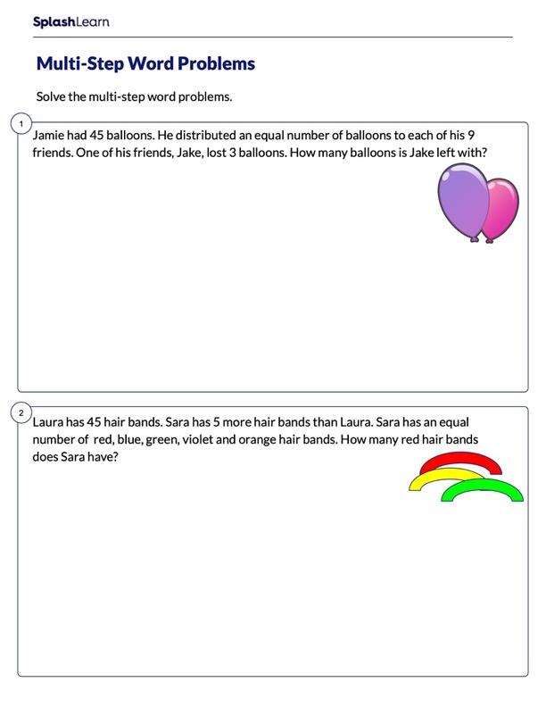 Solve Word Problems Involving Multiple Steps