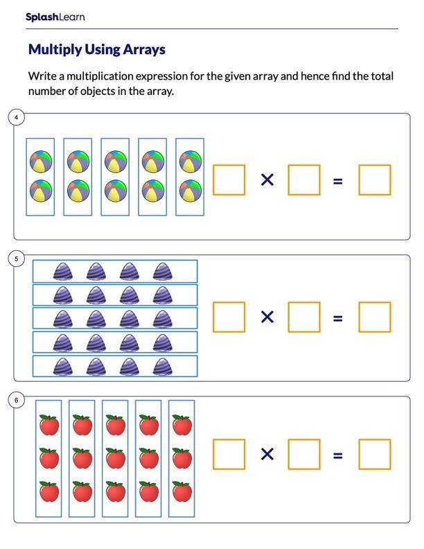 Multiplication Sentence for an Array