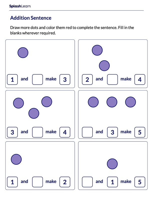Draw More to Complete the Addition Sentence