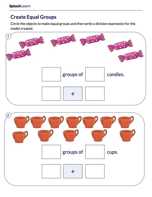 Create Equal Groups and Write Division Expressions
