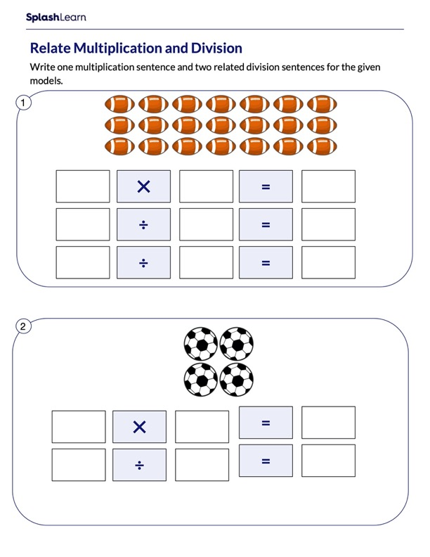 Relating Multiplication and Division Sentences