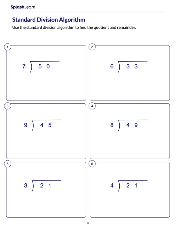 Divide the Numbers using the Standard Algorithm