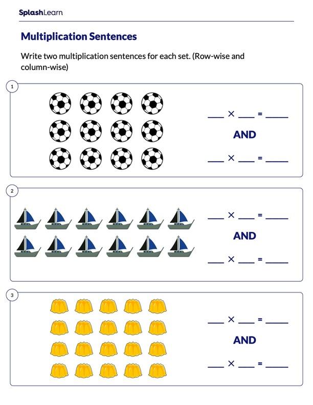 Write Multiplication Sentences