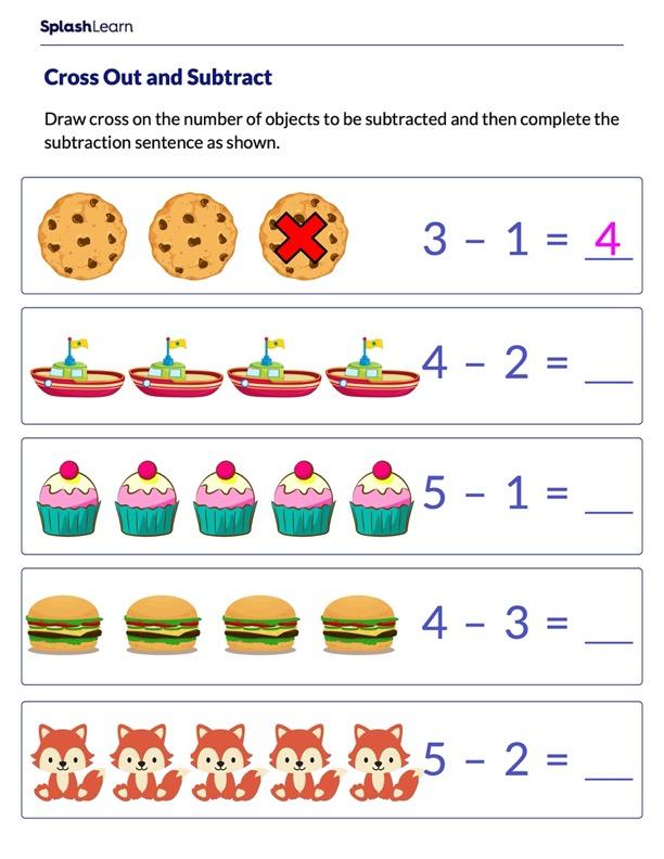 Solve Subtraction Sentences Using Pictures