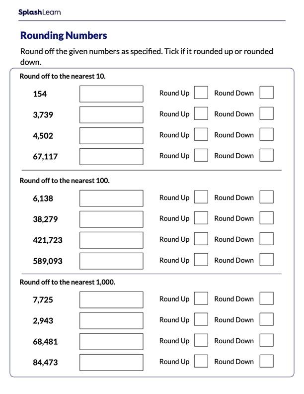 Identify if Round Up or Round Down