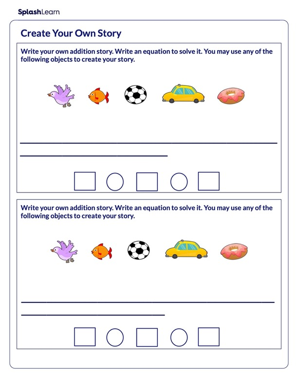 Creating Addition Story Problems