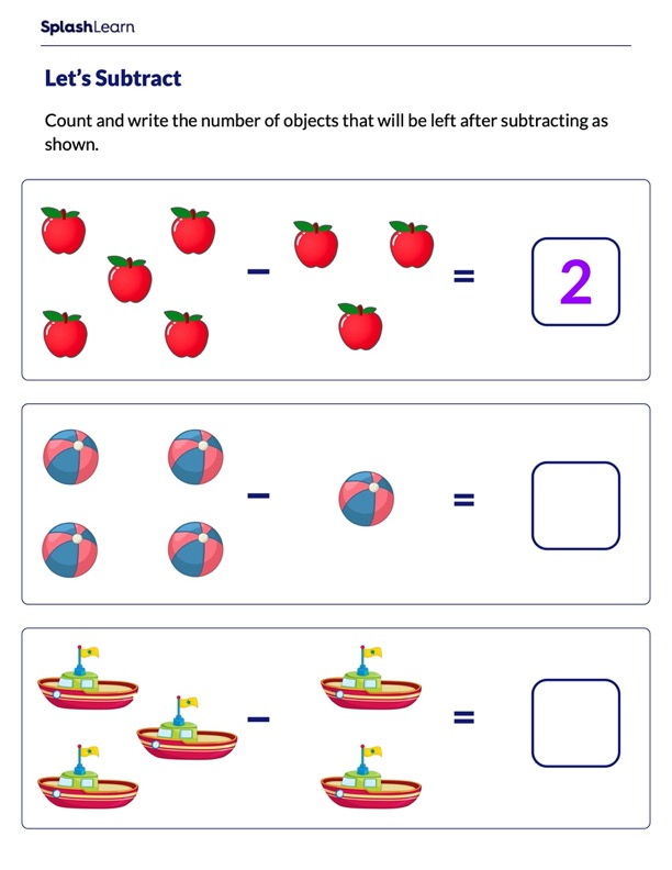 Subtract using Objects