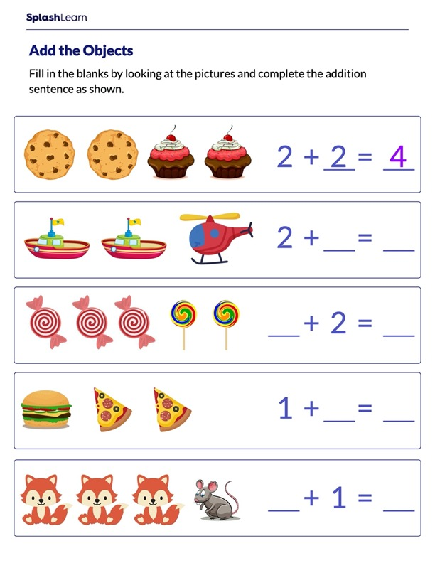 Complete the Addition Equations
